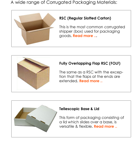 corrugated cardboard boxes